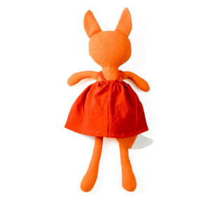 Hazel Village Organic Flora Fox Doll in Red Dress,Hazel Village  - Wild Dill