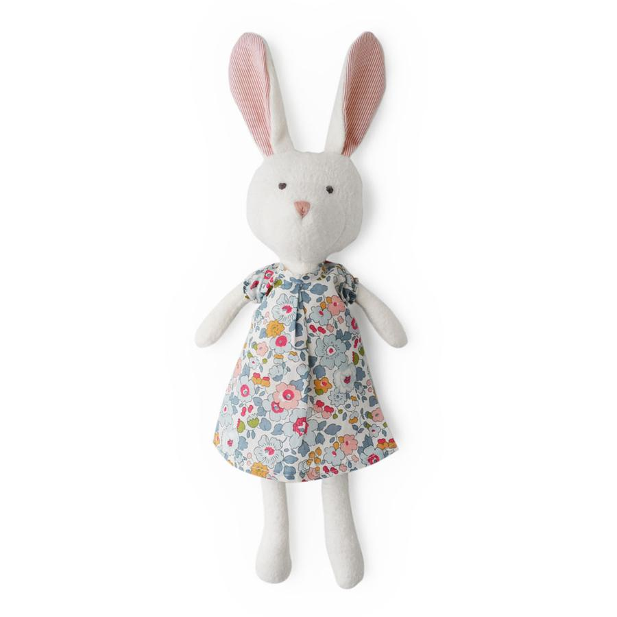 Hazel Village Emma Organic White Rabbit Doll- Liberty London Dress,Hazel Village  - Wild Dill