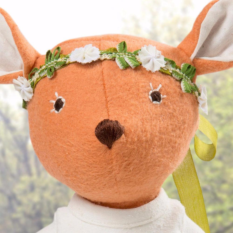 Hazel Village Organic Phoebe Fawn Doll with Crown,Hazel Village  - Wild Dill