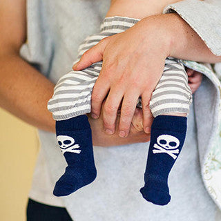 Stay Put Baby Socks - Pirate , Footwear - Cheski Sock Co, Wild Dill  - 1