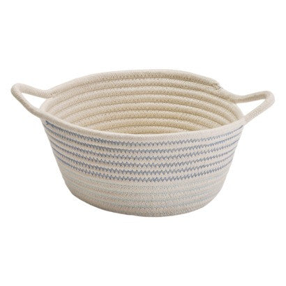 Nursery Storage Cotton Basket blue accent basket, Nursery Decor - wilddillkids, Wild Dill  - 1