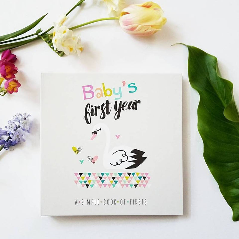 Swan Keepsake Baby Memory Book,Lucy Darling  - Wild Dill