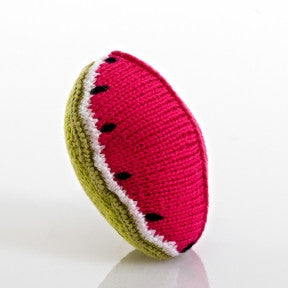 Watermelon Fair Trade Knitted Baby Rattle , Play - Pebble, Wild Dill