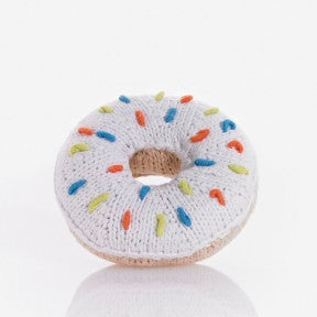 Donut Knitted Baby Rattles white, Play - Pebble, Wild Dill  - 3