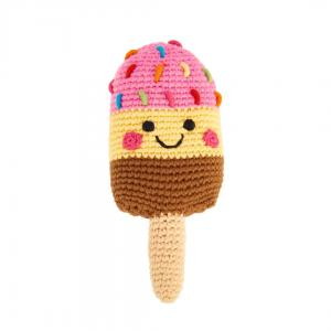 Striped Popsicle Knitted Baby Rattle - Fair Trade