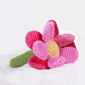 pink flower rattle