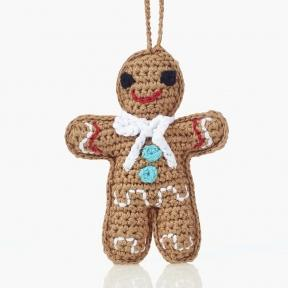 Gingerbread Man - Crochet Christmas Tree Ornament,Wild Dill  - Wild Dill