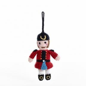 Nutcracker- Crochet Christmas Tree Ornament,Wild Dill  - Wild Dill