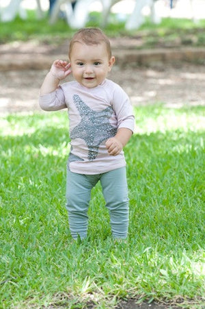 Organic Cotton Baby Leggings - Grey,Nui Organics  - Wild Dill
