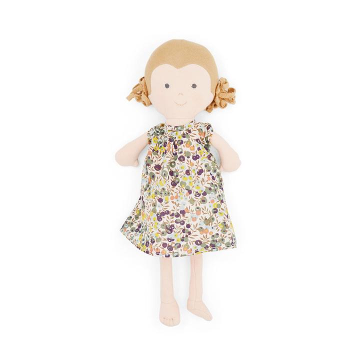 Fern Organic Girl Doll by Hazel Village - Liberty London dress,Hazel Village  - Wild Dill
