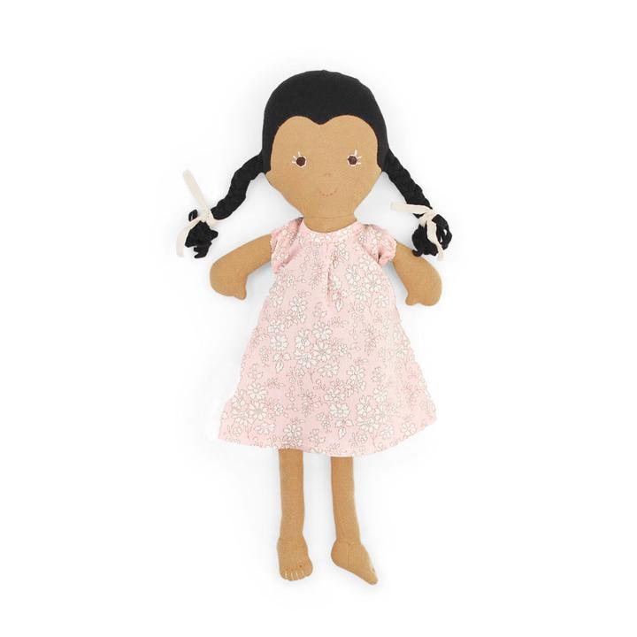 Celia Organic Girl Doll by Hazel Village - Liberty London Dress,Hazel Village  - Wild Dill