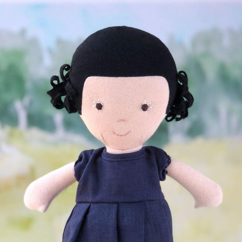 Nell Organic Girl Doll by Hazel Village