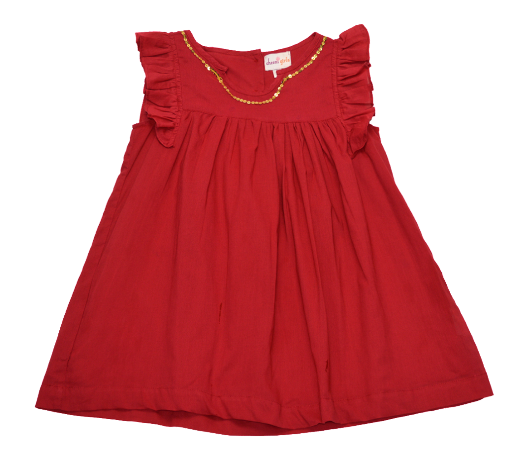 Cheeni Clothing - Leah Dress,Cheeni Girls  - Wild Dill