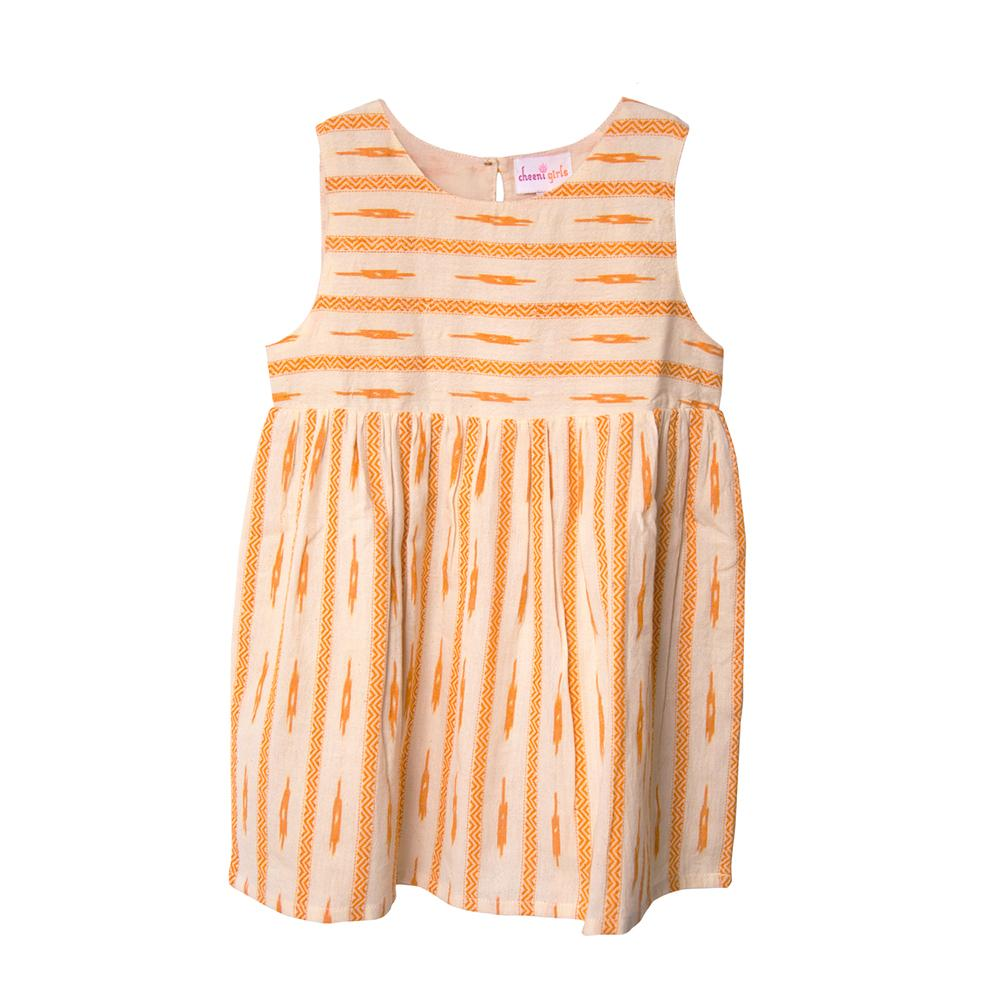 Yellow Bobby Fair Trade Dress,Cheeni Girls  - Wild Dill