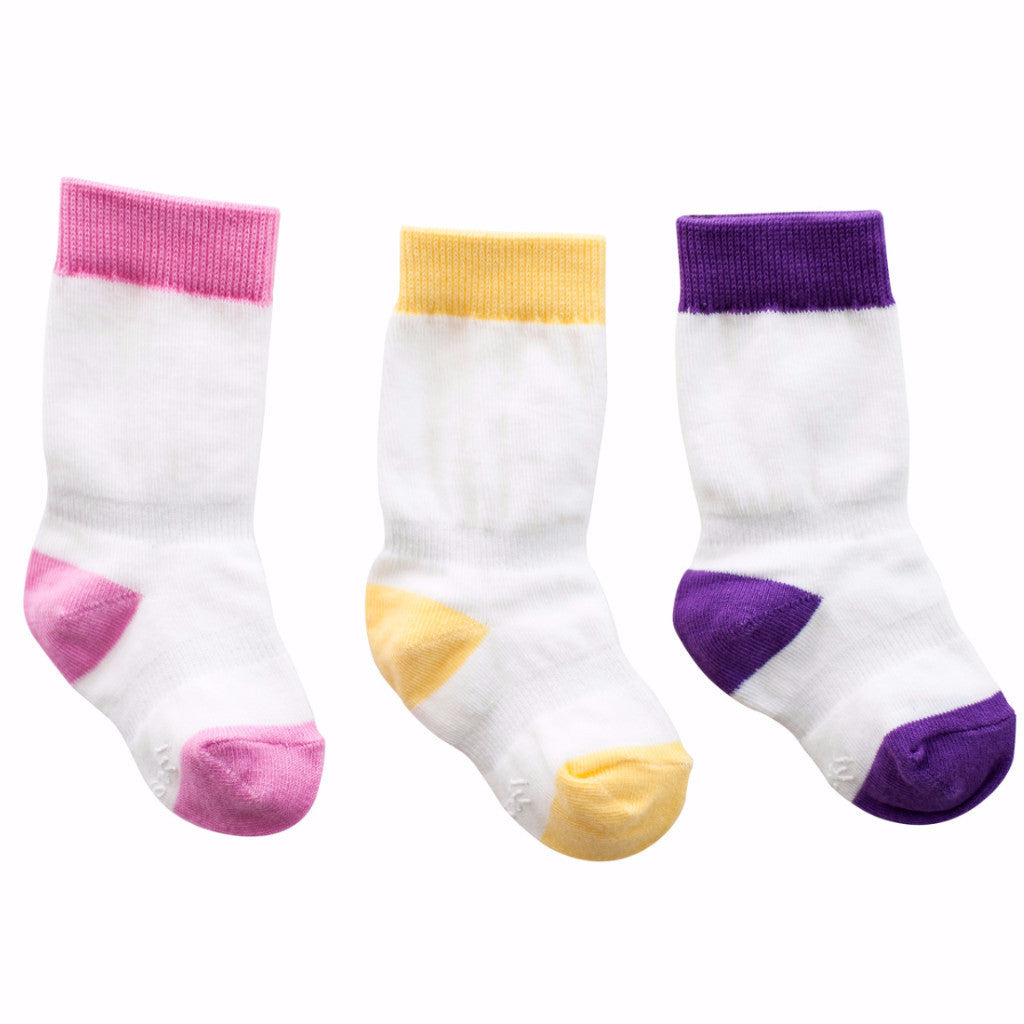 3 Mixed Colors Girl Color Knee Socks , Footwear - Cheski Sock Co, Wild Dill  - 1