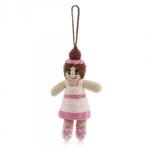 Ballerina in Pink Tutu - Crochet Christmas Tree Ornament,Pebble  - Wild Dill