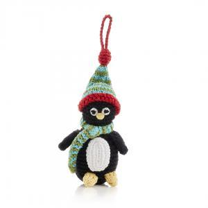 Winter Penguin- Crochet Christmas Tree Ornament,Pebble  - Wild Dill