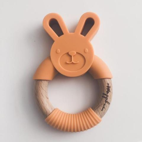 Bunny Ring Teether - Apricot,Pretty Please Boutique  - Wild Dill