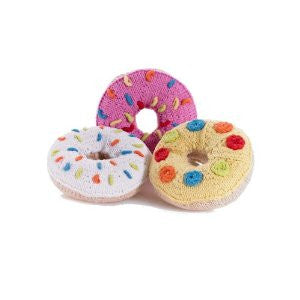 Donut Knitted Baby Rattles,Pebble  - Wild Dill