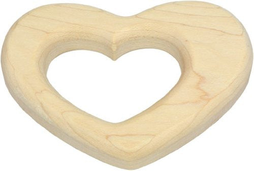 Maple Wood Heart Teether,Maple Landmark  - Wild Dill