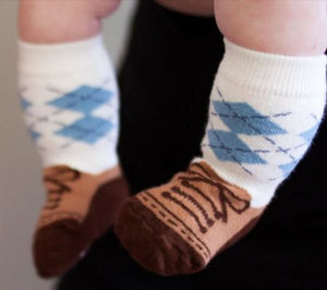 Stay Put Box of 3 Baby Boy Knee Socks , Footwear - Cheski Sock Co, Wild Dill  - 3