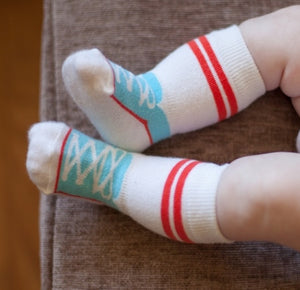 Stay Put Box of 3 Baby Boy Knee Socks , Footwear - Cheski Sock Co, Wild Dill  - 4
