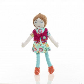 Olivia Fair Trade Knit Doll - Limited Edition , Play - Pebble, Wild Dill