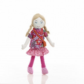 Sophia Fair Trade Knit Doll - Limited Edition,Pebble  - Wild Dill