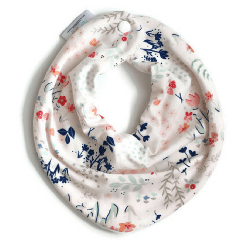 Light pink floral bib,Dolly Lana  - Wild Dill
