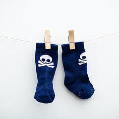 Stay Put Baby Socks - Pirate , Footwear - Cheski Sock Co, Wild Dill  - 2