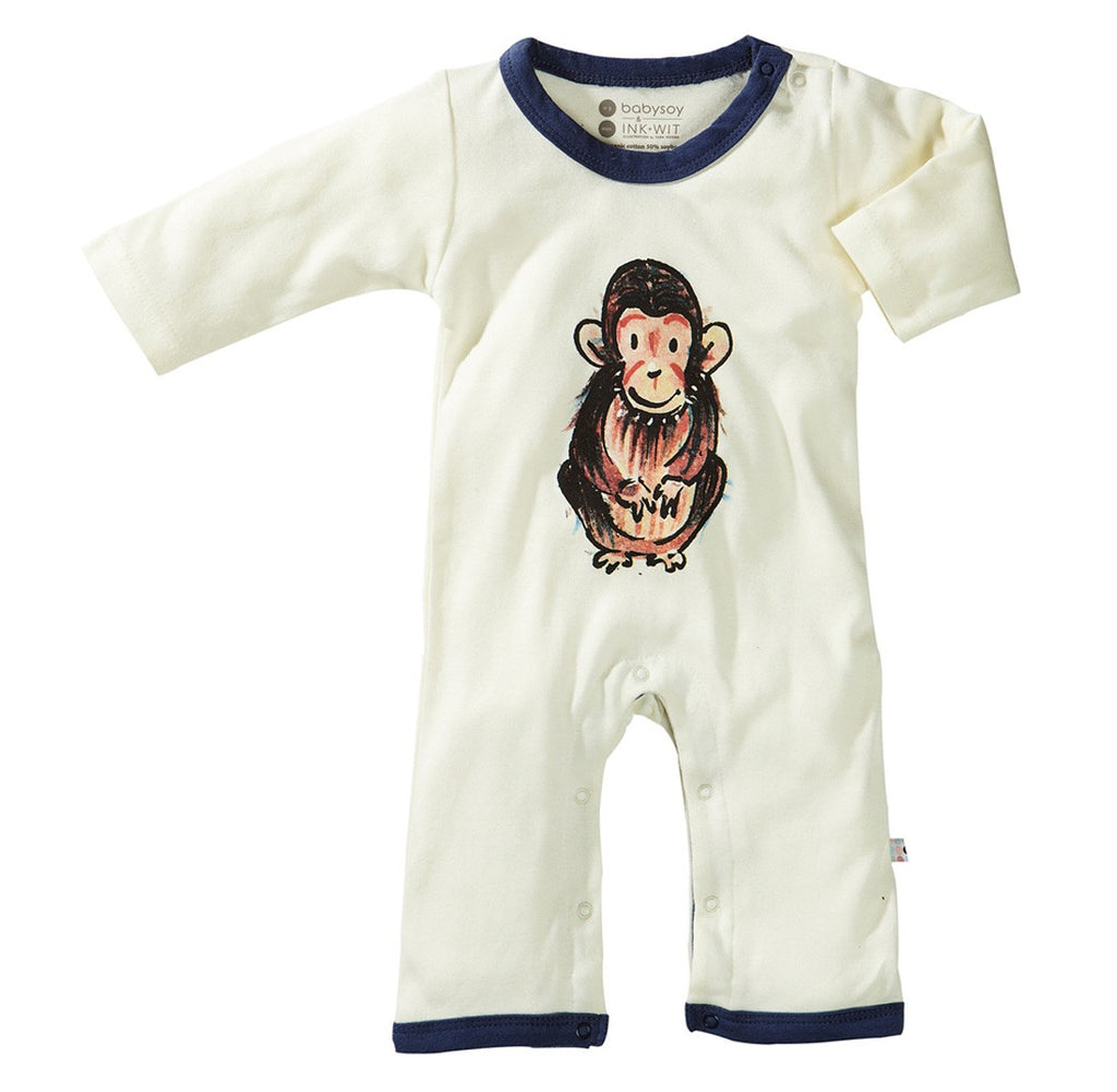 Chimp - Organic Baby Winter Jumpsuit,Babysoy  - Wild Dill