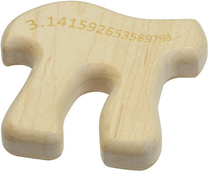 Maple Wood Pi Teether,Maple Landmark  - Wild Dill