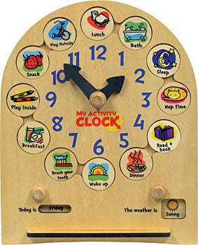 toddler activity clock