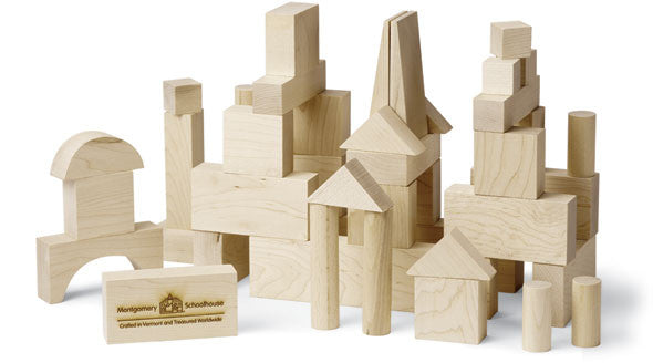 Junior Builder: 41 Piece Wood Block Set,Maple Landmark  - Wild Dill