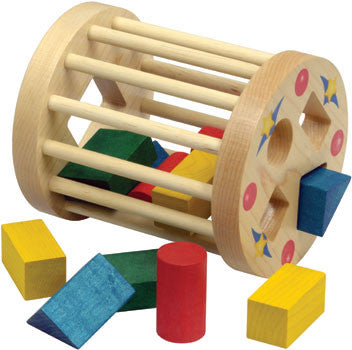 Shape Sorter Wooden Cage,Maple Landmark  - Wild Dill