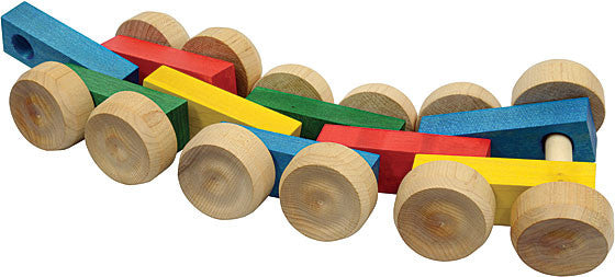 Rolling Rover Wooden Pull Toy , Play - Maple Landmark, Wild Dill
