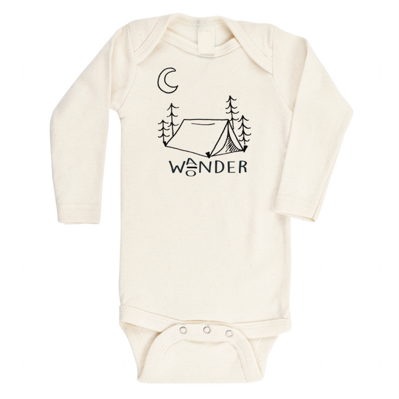 Tenth & Pine - Wander Wonder Long Sleeve Onesie,Tenth and Pine  - Wild Dill