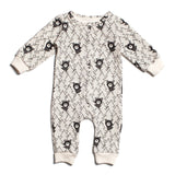 Black Bears - Organic French Terry Jumpsuit by Winter Water Factory