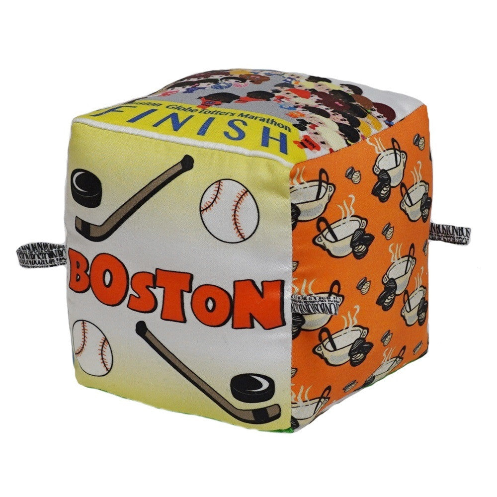 Boston - Organic Cotton Play Block,Globe Totters  - Wild Dill