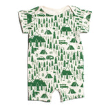 Green Campground Organic Romper by Winter Water Factory,Winter Water Factory  - Wild Dill