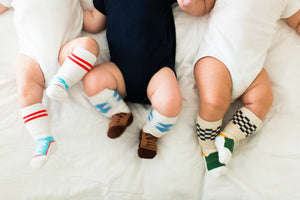 Stay Put Box of 3 Baby Boy Knee Socks , Footwear - Cheski Sock Co, Wild Dill  - 1