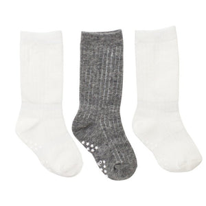 White & Grey Classic Baby Socks - 3 Pack,Cheski Sock Co  - Wild Dill