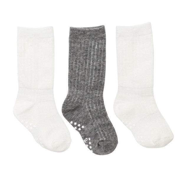 White & Grey Classic Baby Socks - 3 Pack , Footwear - Cheski Sock Co, Wild Dill  - 3