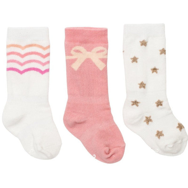Baby Girl Pretty In Pink Socks - 3 Pack,Cheski Sock Co  - Wild Dill
