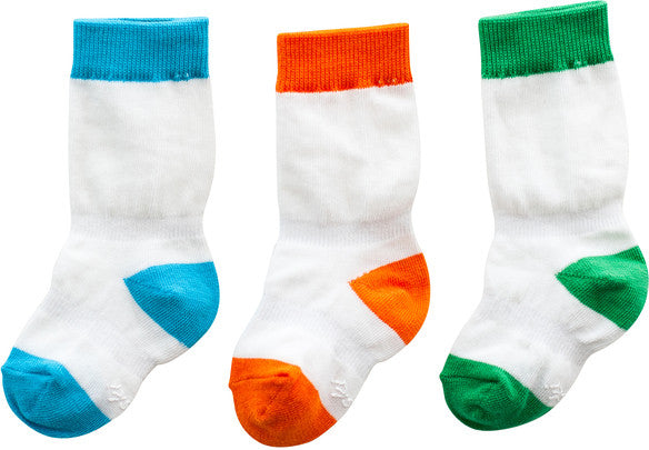 Stay Put Box of 3 Mixed Boy Color Knee Socks , Footwear - Cheski Sock Co, Wild Dill  - 1