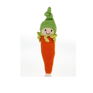Friendly Carrot Fair Trade Knitted Baby Rattle,Pebble  - Wild Dill