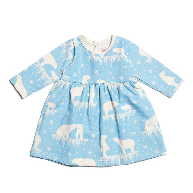 Polar Bear Baby Dress by Winter Water Factory