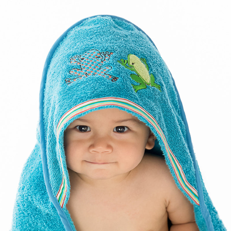 Rainforest: Baby Organic Cotton Towel,Breganwood  - Wild Dill