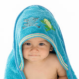 Rainforest: Baby Organic Cotton Towel blue, Bath - Breganwood, Wild Dill  - 2