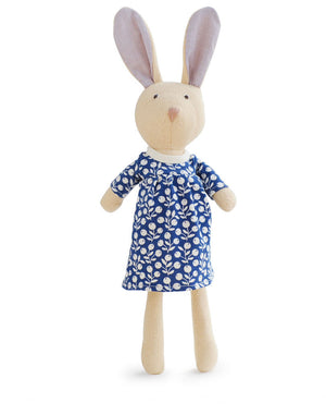 Juliette Organic Brown Rabbit Doll - Special Edition WWF Dress,Hazel Village  - Wild Dill